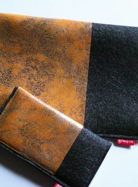Bundle - Leder und Filz - anthrazit - gold