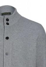 100% Kaschmir Baatar - Strickjacke aus Kaschmir - hellgrau