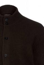 100% Yakwolle Baatar - Strickjacke aus Yakwolle - schokobraun