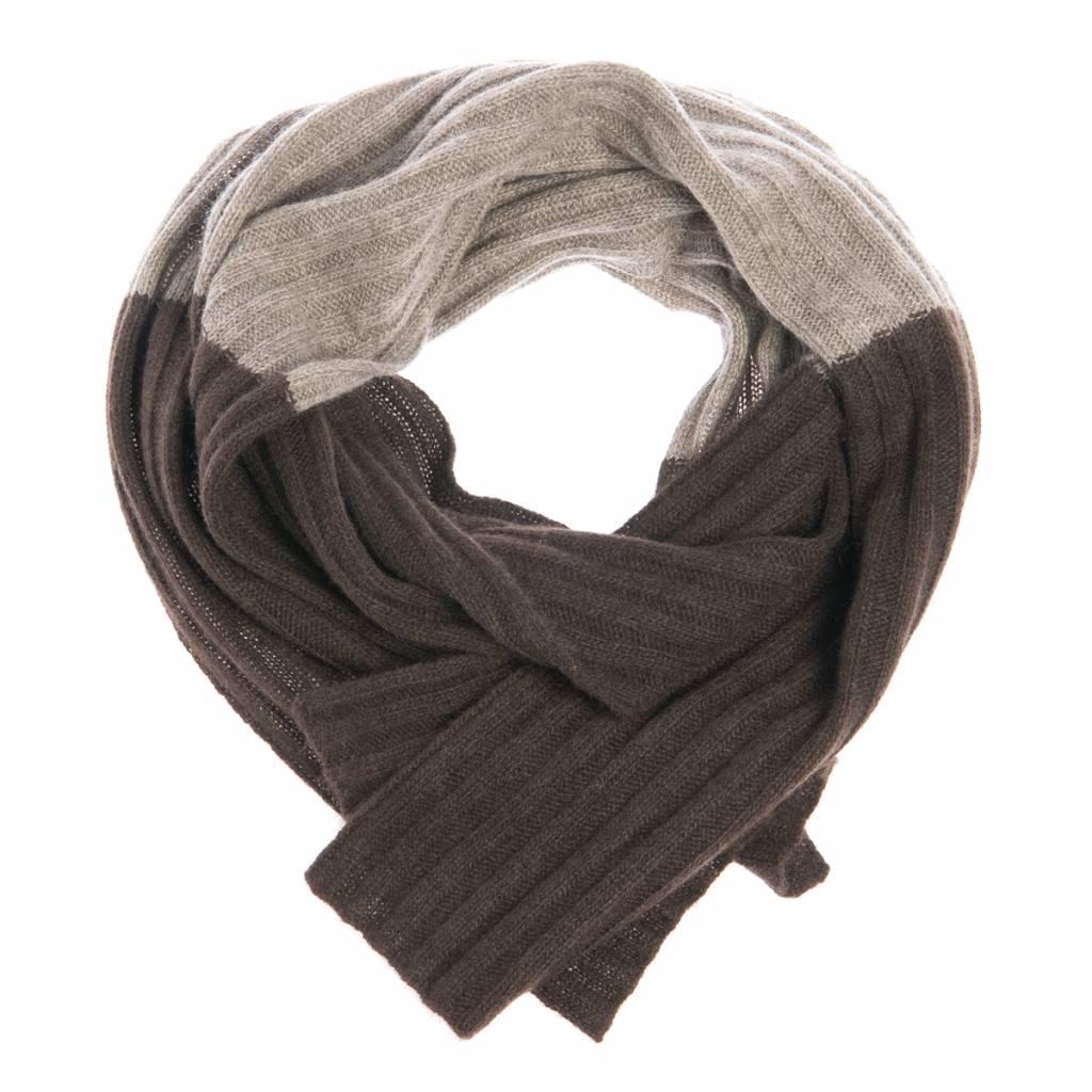 100% Yakwolle Batu - Schal aus Yakwolle - zweifarbig