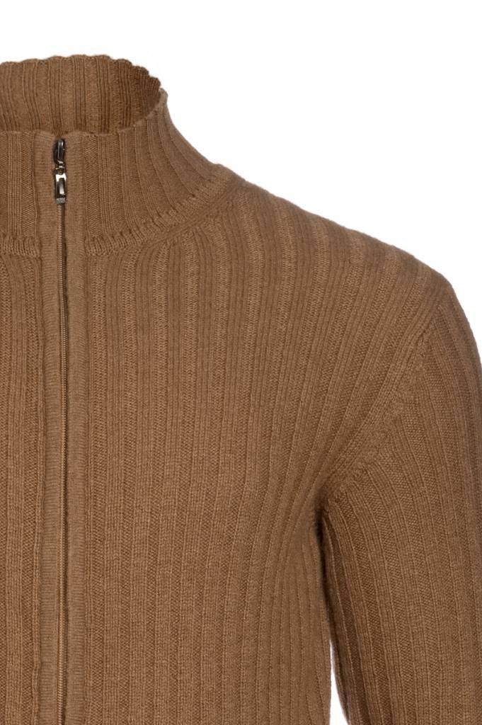 100% Kamelhaar Monkhoo - Strickjacke aus Kamelhaar - kamelbraun