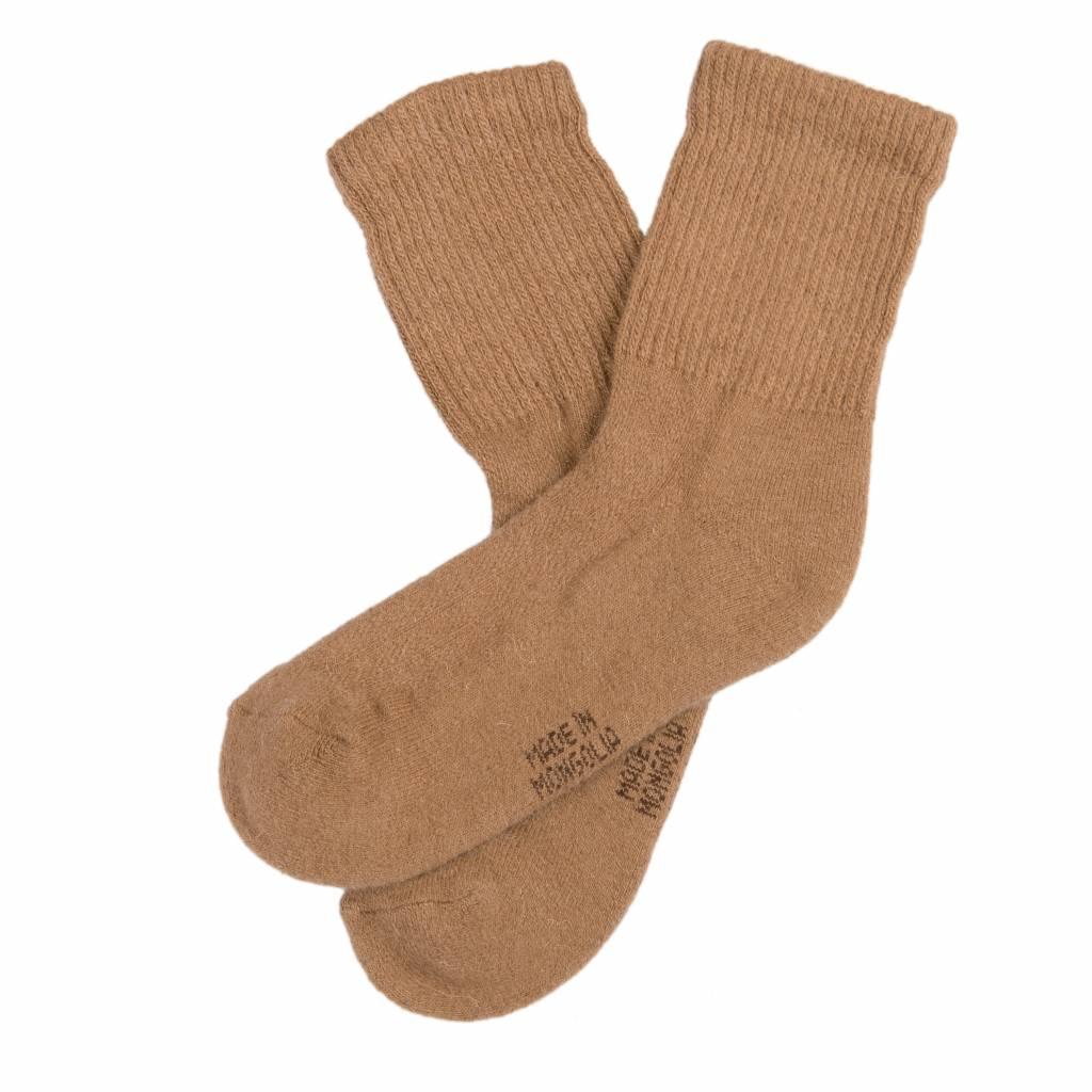 100% Kamelhaar Socken aus Kamelhaar - kamelbraun
