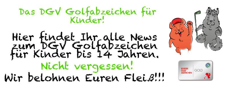 Bronze, Silber & Gold - Das DGV Golfabzeichen für Kinder bis 14 Jahren.