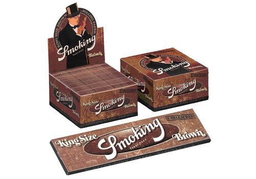 Smoking Kingsize Brown Rolling Paper Box