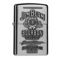 Lighter Zippo Jim Beam Label Chrome