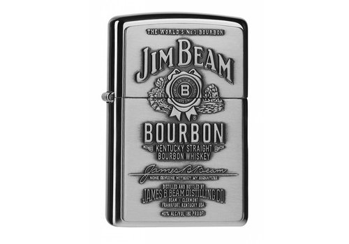 Aansteker Zippo Jim Beam Label Chrome