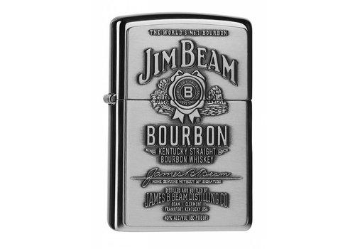 Lighter Zippo Jim Beam Label Chrome