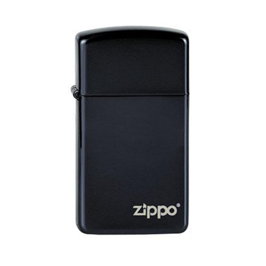 Aansteker Zippo Slim Ebony with Zippo Logo