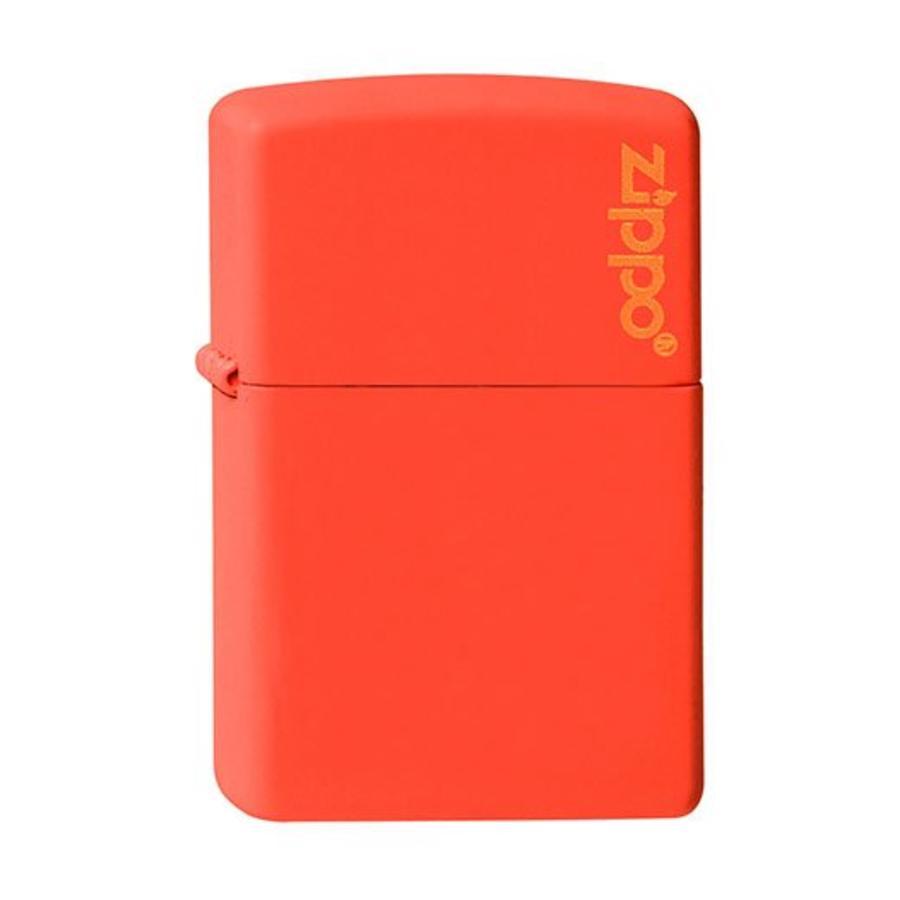 Lighter Zippo Orange Matte with Zippo Logo