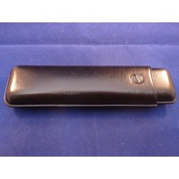 Cigar Case Black Leather