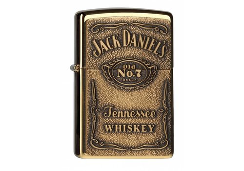 Lighter Zippo Jack Daniel's Label Brass Emblem