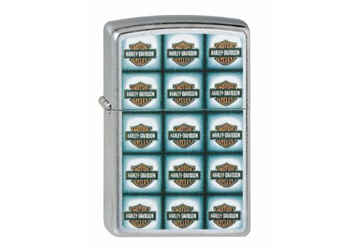 Lighter Zippo Harley Davidson Bar Shield Repeated