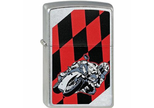 Lighter Zippo Moto Flag Red & Black