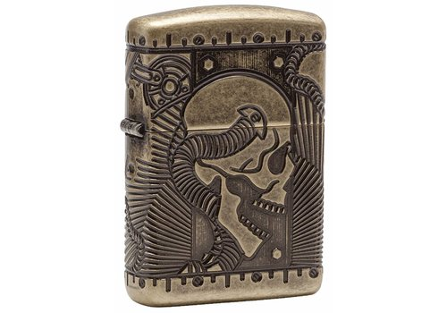Lighter Zippo Armor Case Skull Multi Cut