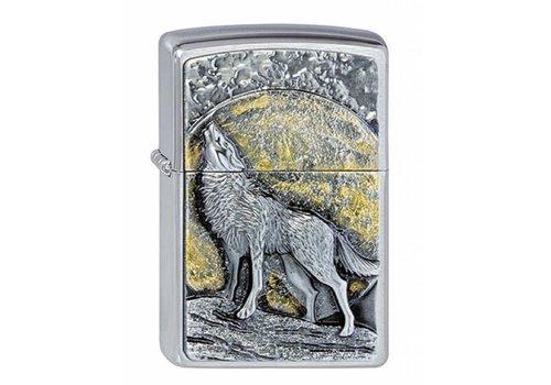 Lighter Zippo Wolf at Moonlight