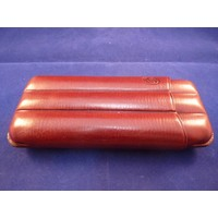 Cigar Case Brown Leather