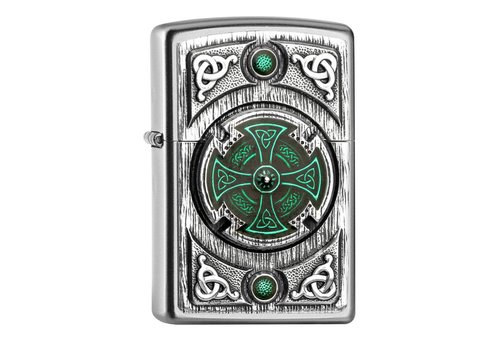 Lighter Zippo Celtic Green Cross