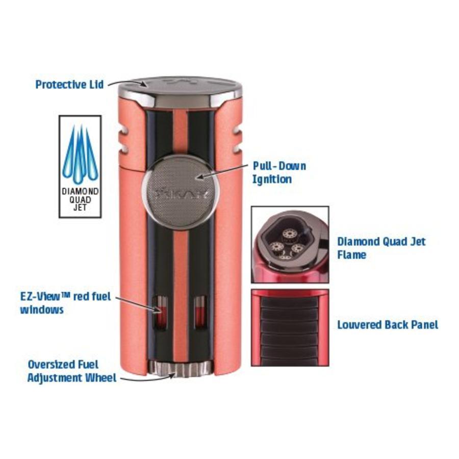 Aansteker Xikar HP4 Quad Lighter Black Matte
