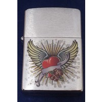 Lighter Zippo Heart with Wings