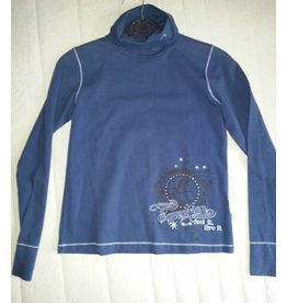 Euro-Star Euro-Star shirt met rolcol in blauw