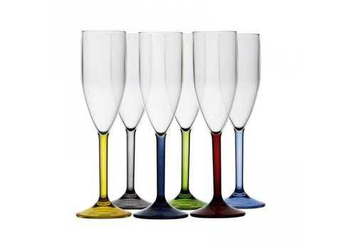 ARC Marine Party - Champagneglazen set - Meerkleurig H24cm