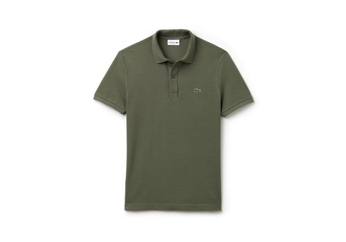 Lacoste Polo Chemise Col Bord-Cotes Army