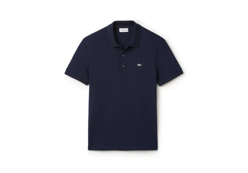 Lacoste Polo Chemise Col Bord-Cotes Navy Blue
