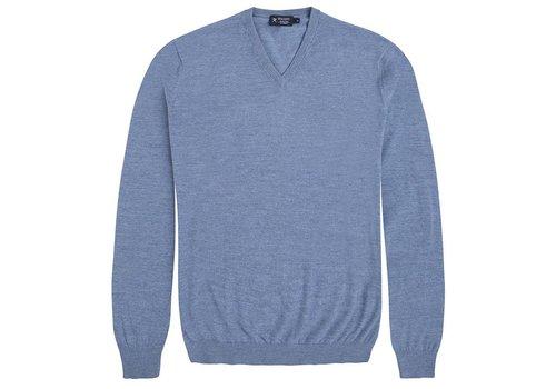 Hackett FN GG Merino V Knitwear Denim