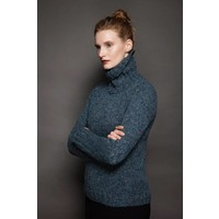 FSS72M Seaweed polo neck sweater 192