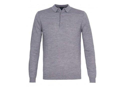 Profuomo Polo Flatknit Grey