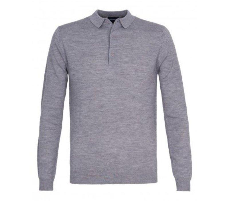 PPOJ300005 Profuomo Polo Flatknit Grey