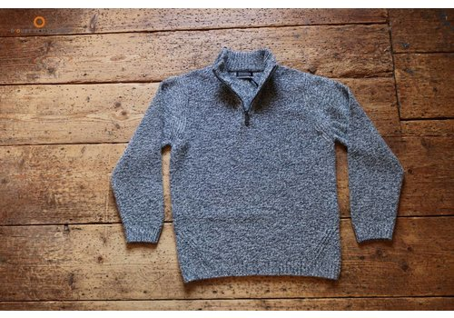 Fisherman out of Ireland Pebble zip neck sweater