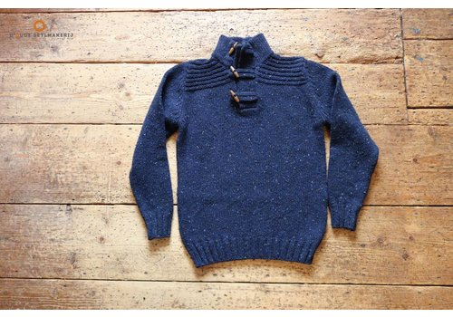 Fisherman out of Ireland Navy toggle button collar sweater