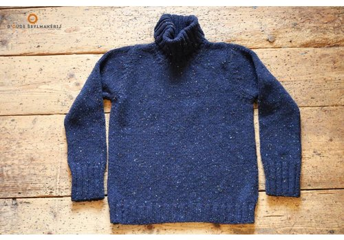 Fisherman out of Ireland Navy polo neck sweater