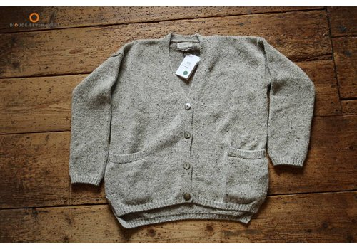 Fisherman out of Ireland Clay v-neck cardy pockets + sli