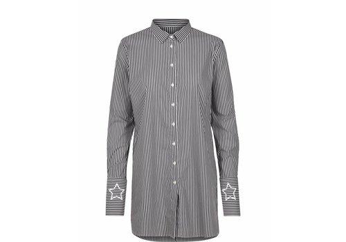 Mos Mosh Catrina Stripe Shirt Grey