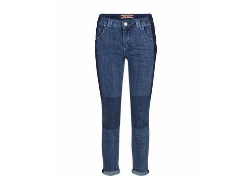 Mos Mosh Corney Patch Jeans Blue Denim