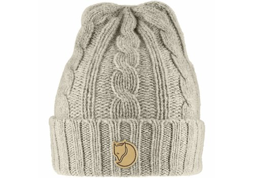 Fjäll Räven Braided Knit Hat Chalk White