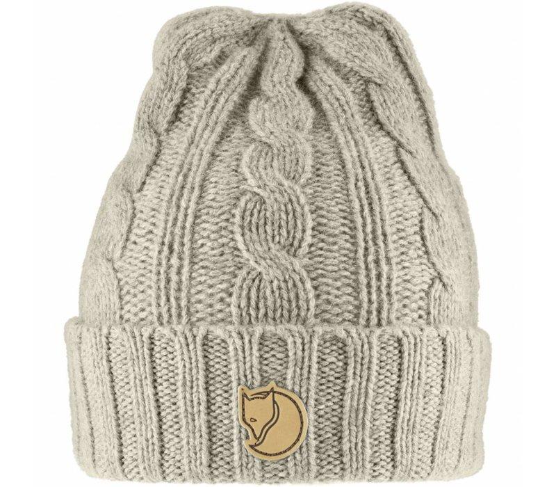 77377 Braided Knit Hat Chalk White