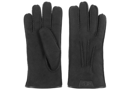 UGG Casual Glove Leather Logo BLK