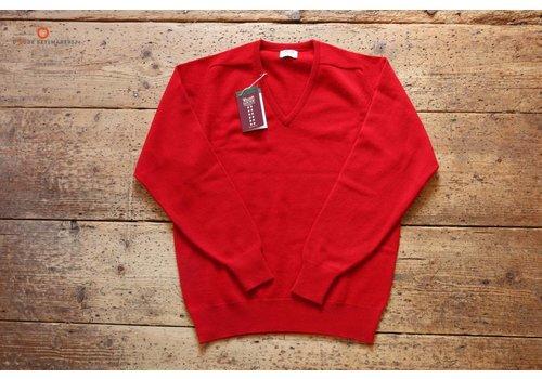 William Lockie Lambswool sweater V-neck Chianti