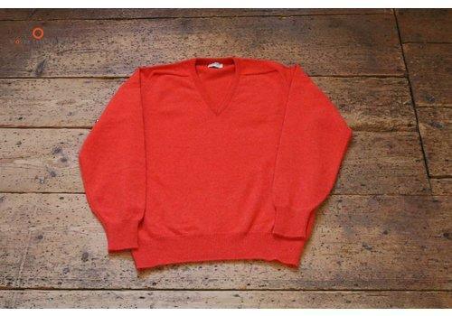 William Lockie Lambswool sweater V-Neck Inferno