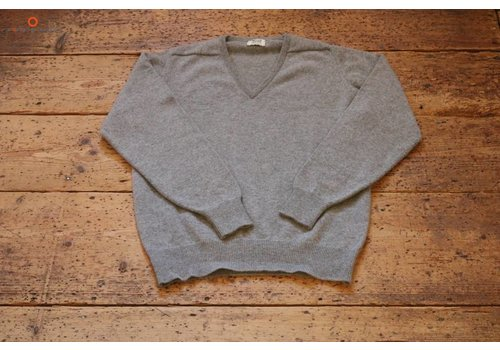 William Lockie Lambswool sweater V-neck Flannel