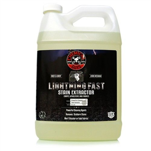 lightning fast carpet upholstery stain extractor gallon detail your car. Black Bedroom Furniture Sets. Home Design Ideas