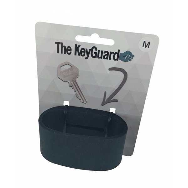 Silicone sleutelarmband - Zwart
