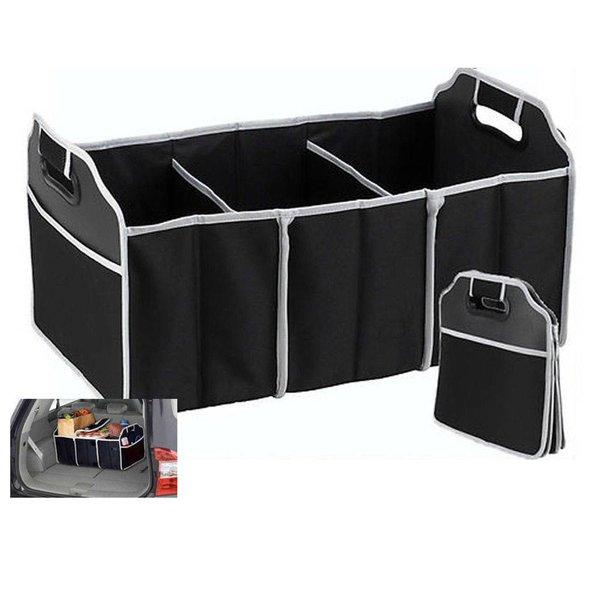 Kofferbak organizer opvouwbaar - 3 grote vakken en twee zijvakken