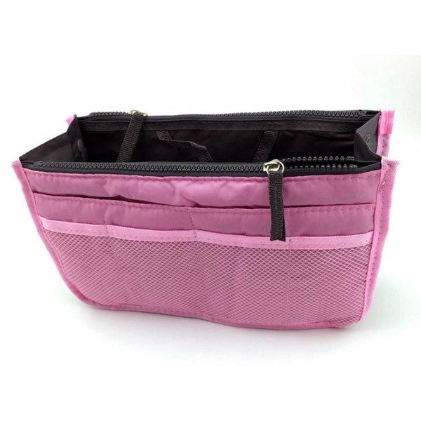Bag in bag hand tas organizer – Licht roze