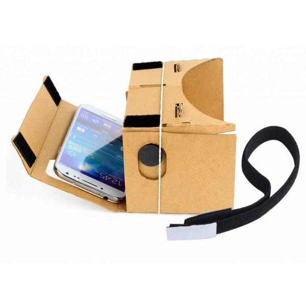 Google Cardboard - Virtual reality bril tot 5,5 inch inclusief hoofdband