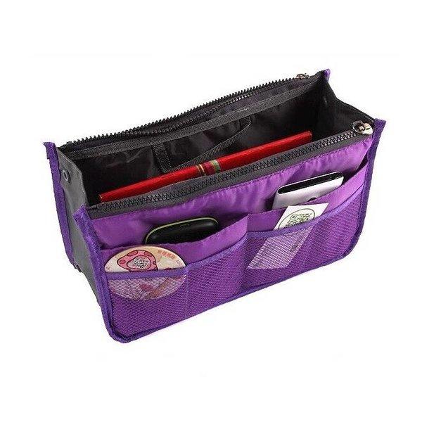 Bag in bag hand tas organizer – Paars