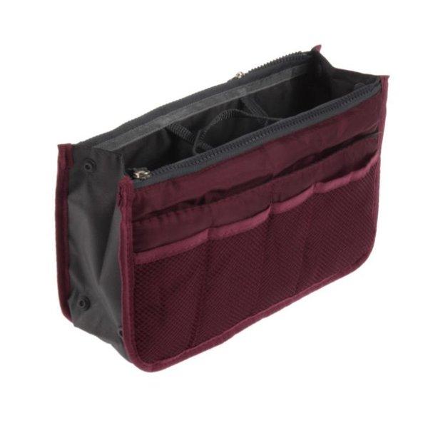 Bag in bag hand tas organizer – Donker wijn rood
